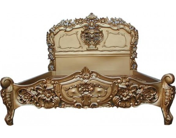 Rococo Gold French Bed Crown French Furniture