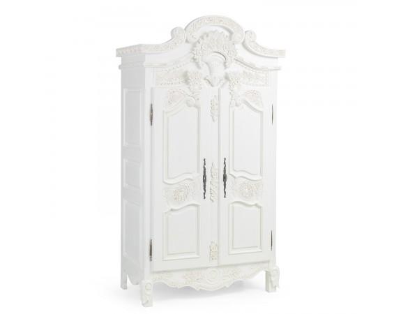 Rococo French White Wardrobe