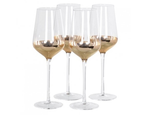 Set of 4 Copper White Wine Glasses