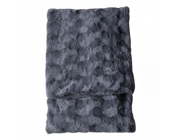 Stellan Fur Throw Dark Grey