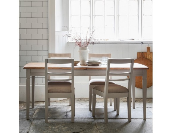 French Taupe Extending Dining Table
