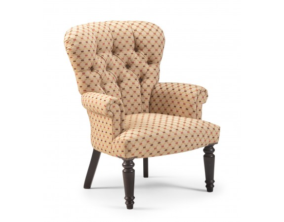 Traditional Buttoned Back Armchair
