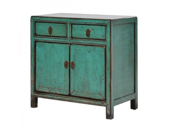 Oriental Turquoise Small 2 Door Cupboard