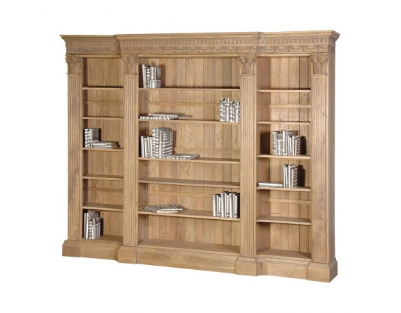 Villeneuve Oak Breakfront Bookcase