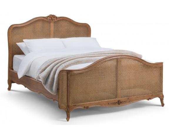 Villeneuve Oak French Rattan Bed