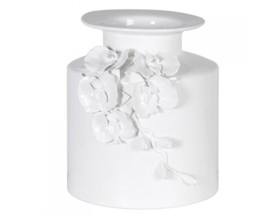 White Floral Vase