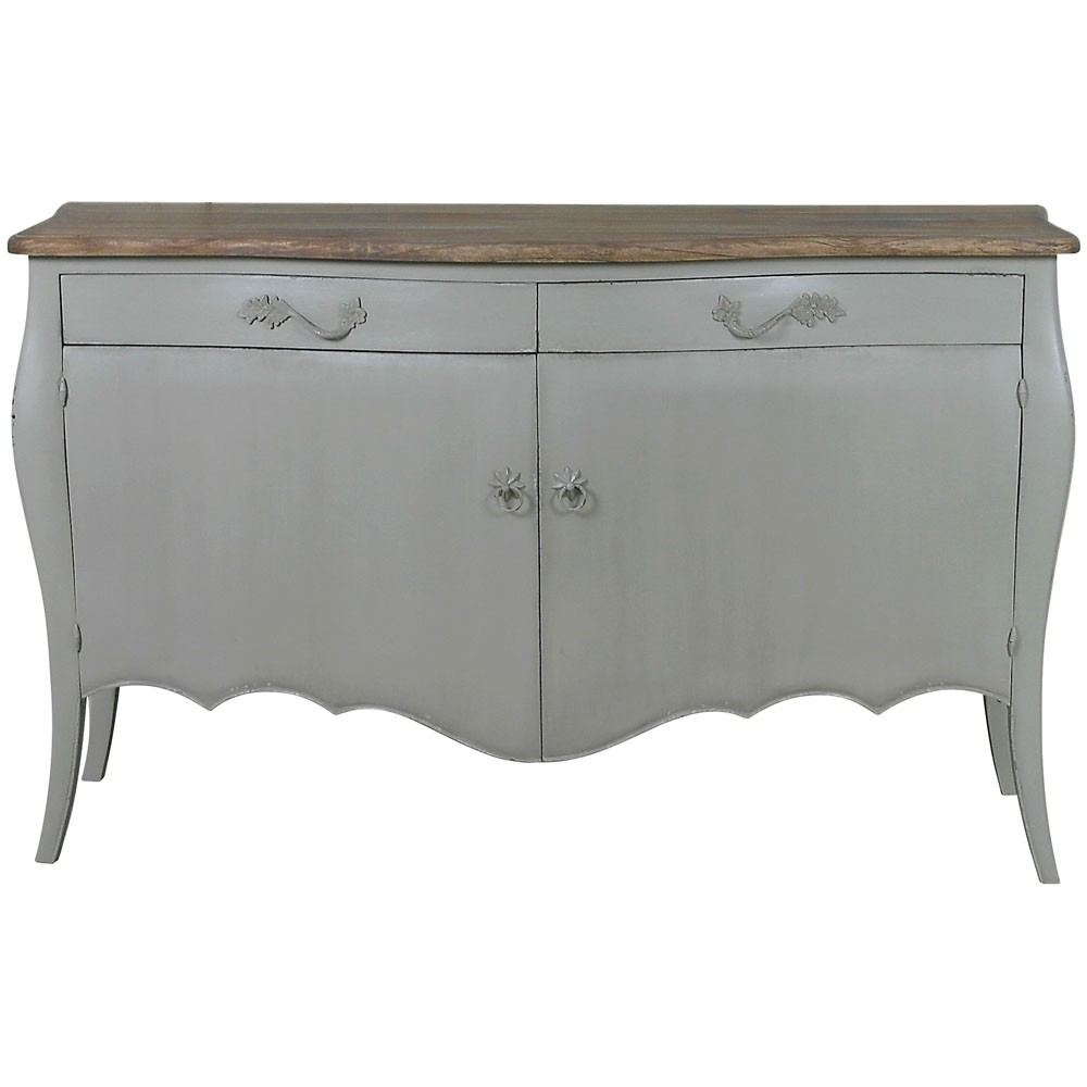 Lyon 2 door french sideboard french carved sideboards for Sideboard shabby