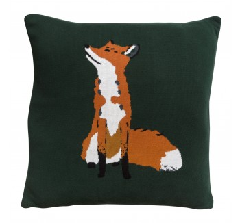 Fox Knitted Statement Cushion