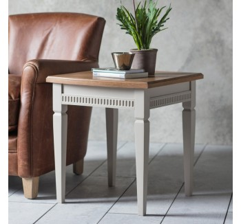 French Contemporary Side Table Taupe