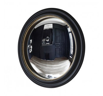 Rockbourne Convex Mirror Black & Gold