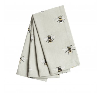 Pack of 4 Bees Fabric Napkins