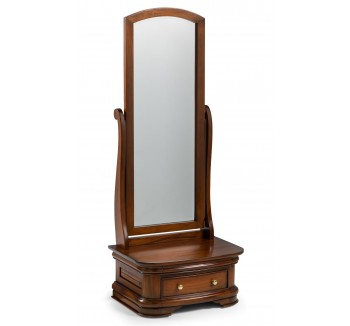 Antoinette French Sleigh Cheval Mirror