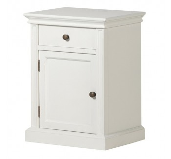 Ashwell Classic White French Bedside Cupboard