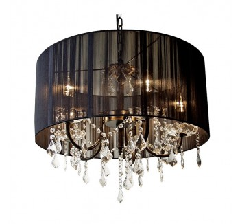 Contemporary Black Glass Chandlelier