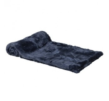 Blue Fur throw