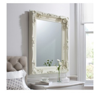 Carved Louis Mirror Cream