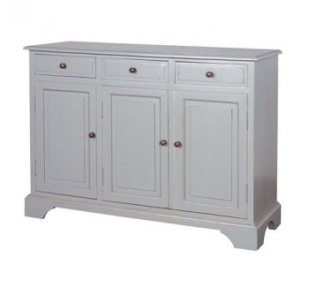 Chamonix Grey 3 Door 3 Drawer Sideboard