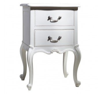 Charlotte French Painted Ivory Bedside Table