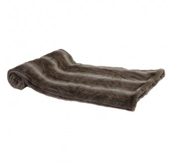 Chunky Stripe Fur Throw