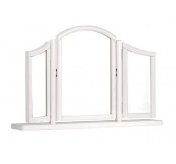 Clifton White Sleigh French Triple Mirror