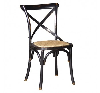 Vintage Black Cross Back Dining Chair