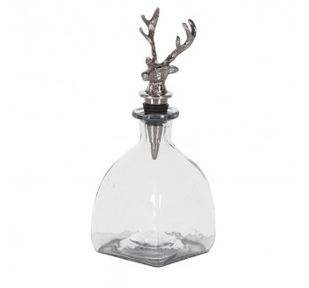 Decanter with Deer Stopper