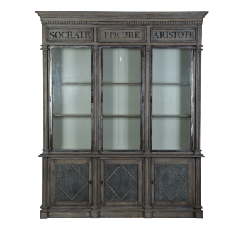 Dorset Contemporary Metal Front Large Bookcase