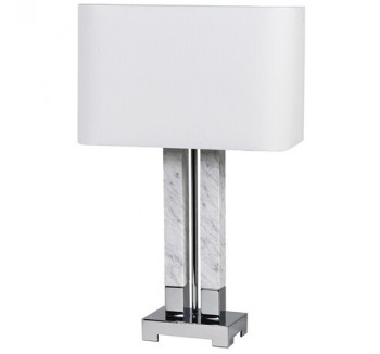 Double Marble Column Lamp