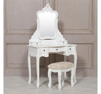Etienne Petite French White Dressing Table
