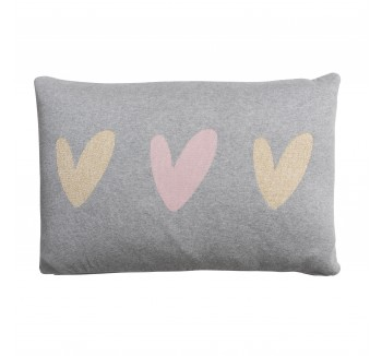 Hearts Knitted Statement Cushion