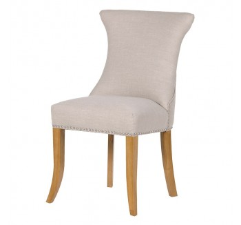 Ivory Studded Dining Chair with Ring- Front