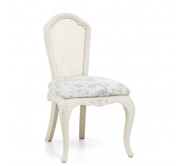 Ivory Upholstered French Bedroom Chair
