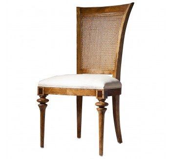 Lille Traditional French Rattan Back Dining Chair
