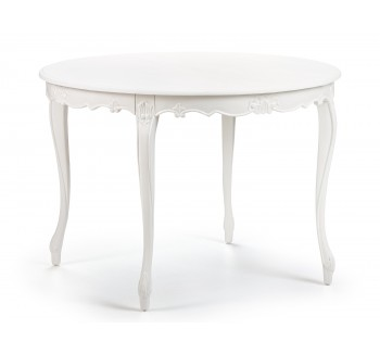 Louis Antique White Round Dining Table / Finished in Chalk