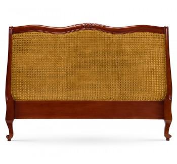 Louis XV Bergere Headboard - Mid Mahogany