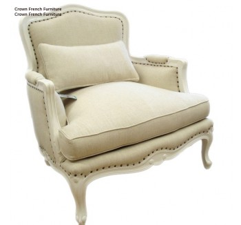 Lyon Upholstered French Sofa Chair