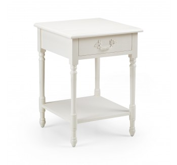Lyon French Bedside Table with Shelf