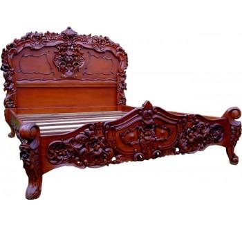 Mid Mahogany Rococo Bed