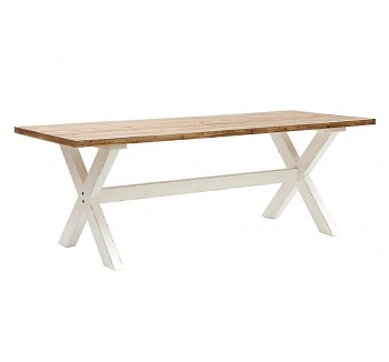 Plaistow White Distressed Dining Table