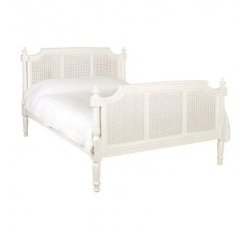 Antique White Provencale French Bordeaux Bed