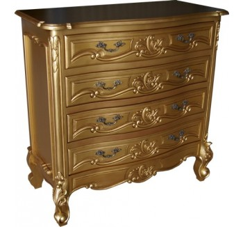 Rococo Antique Gold Chest of Drawers