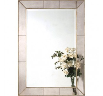 Sectioned Glass Mirror French Style