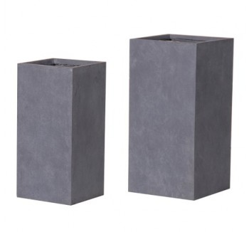 Set of 2 Large Rectangular Frost Resistant Planters