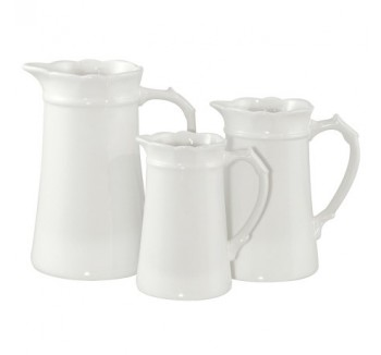 Set of 3 White Jugs