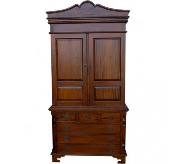 Linen Press - Mid Mahogany