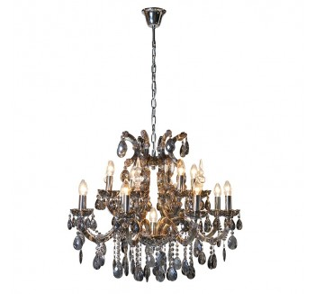 Large Smoked Glass French Style Chandelier