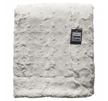 Stellan Fur Throw Cream