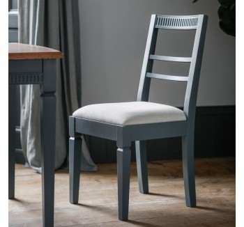 French Contemporary Dining Chair Storm Grey