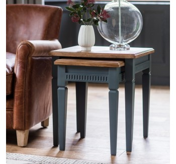 Contemporary Nest of Tables Storm Grey