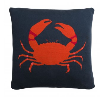 Crab Knitted Statement Cushion